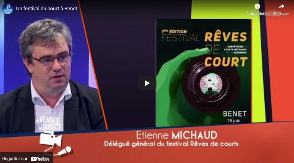 Etienne MICHAUD sur TV Vendée, le 31/05/2021